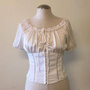 Bebe silk corset top